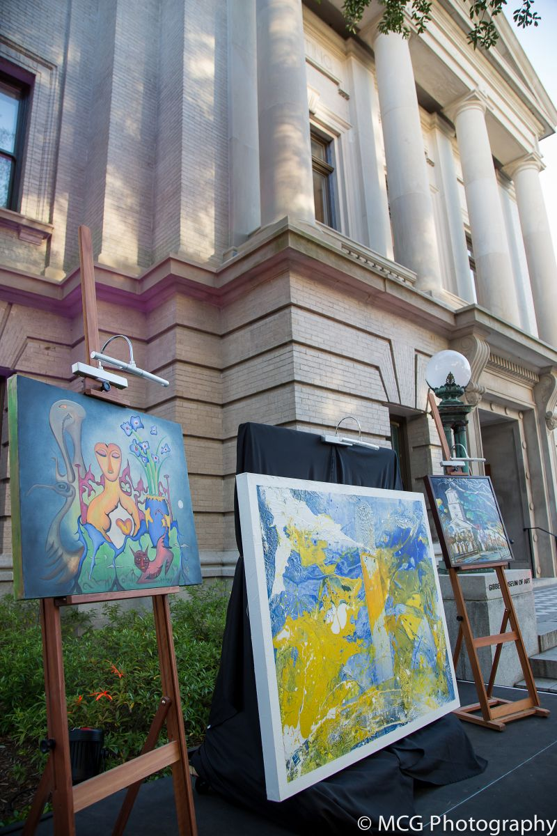 Works by a handful of prominent Charleston artists were auctioned off at the event.