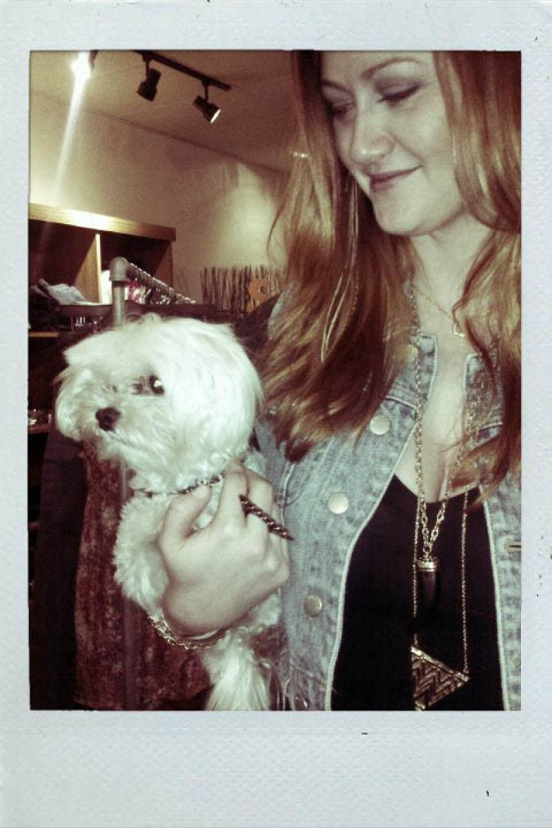 Erin of HOUSE OF SAGE with a precious pup!