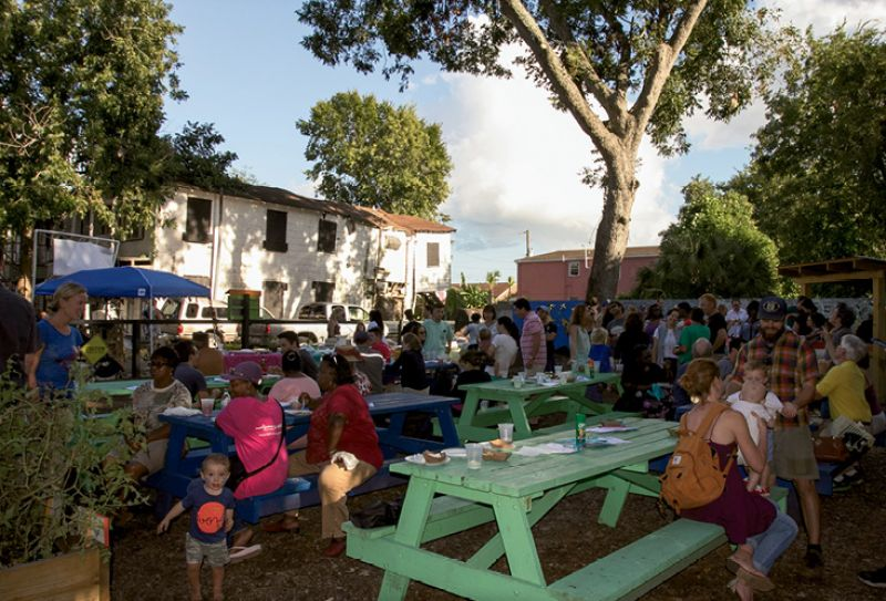 Growing Livability: When HCF was founded, preservation was focused primarily in the historic district, in Ansonborough and South of Broad. Under Robinson's leadership, HCF's Neighborhood Impact Initiative has extended efforts to the Upper Peninsula, where HCF supported the creation of the Romney Street Urban Garden as a community gathering spot.