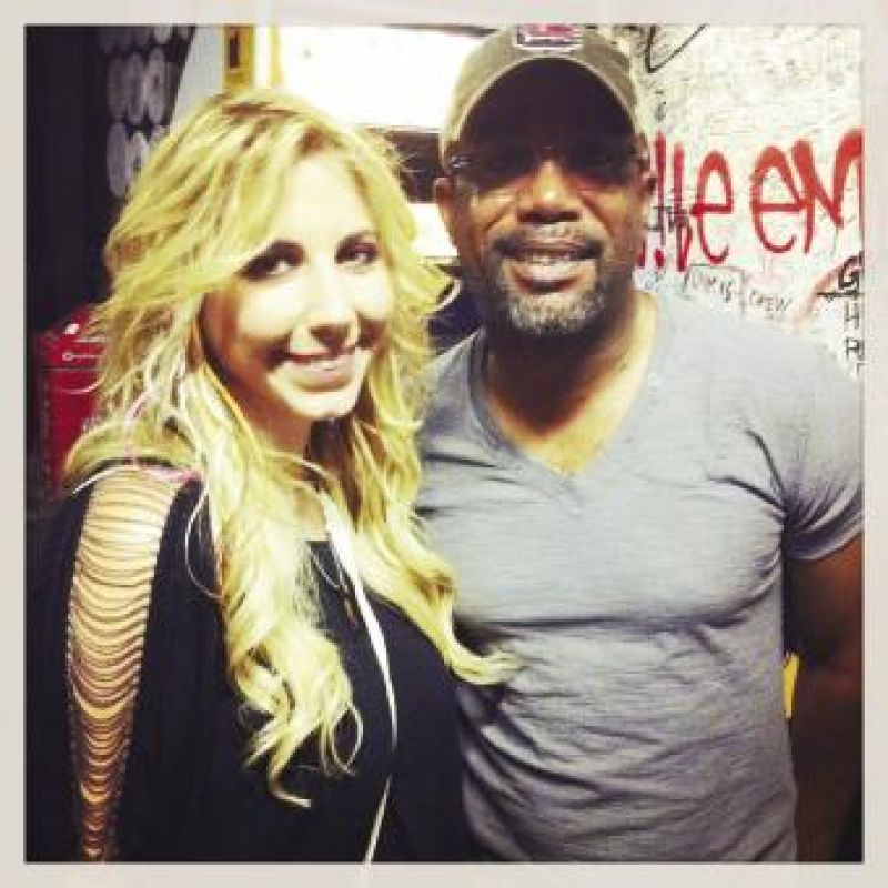 "Star Power: At the Myrtle Beach House of Blues with Darius Rucker, who sings the duet ""Better Than"" on her debut album, In This Life."