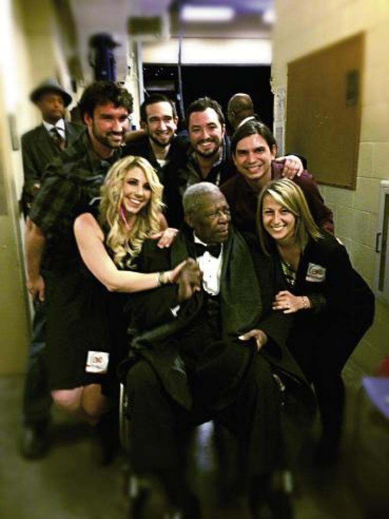 "High Notes: Elise and her bandmates opened for B.B. King at the Performing Arts Center in April. ""What an honor,"" she says. ""He has inspired me throughout my musical life."""