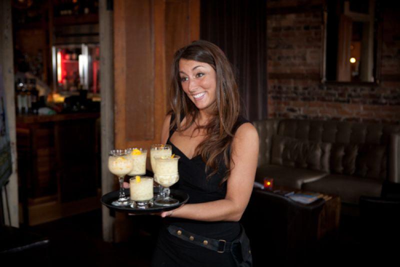Katie serves delicious Cocktail Club concoctions