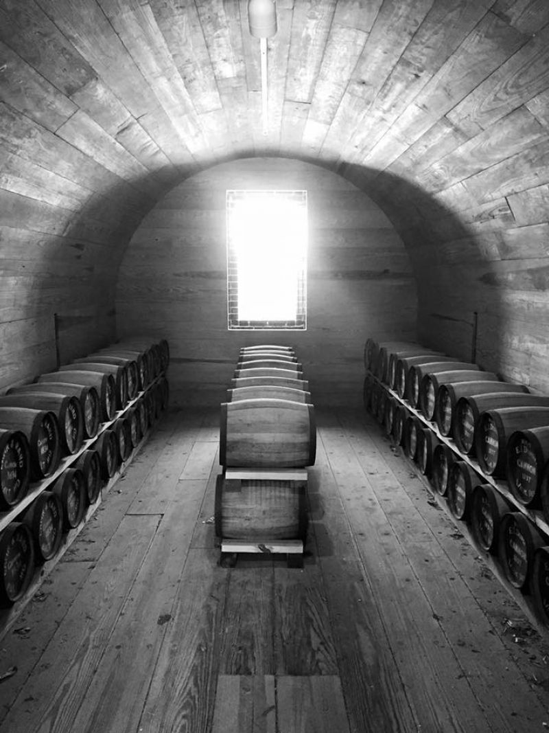 "HONORABLE MENTION Amateur category: Interior of Fort Moultrie Powder Magazine by Ashley Townsend; ""Sunlight shining into the powder magazine on Fort Moultrie, August 2015"""