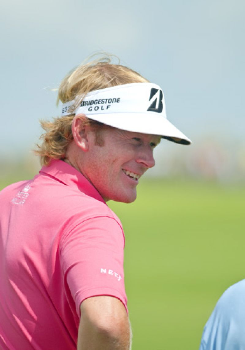 Brandt Snedeker enjoying the return of the sun.