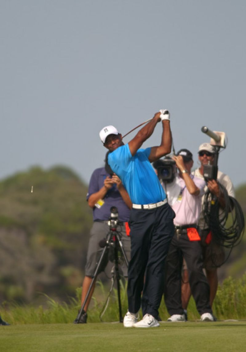Tiger crushing it on the 11th tee.