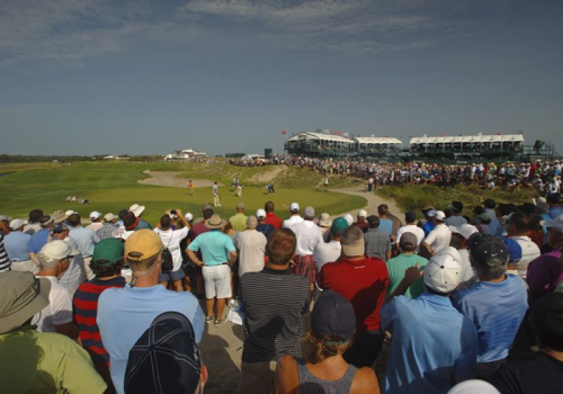 The crowds around Tiger are always huge, but when he's leading a major watch out.