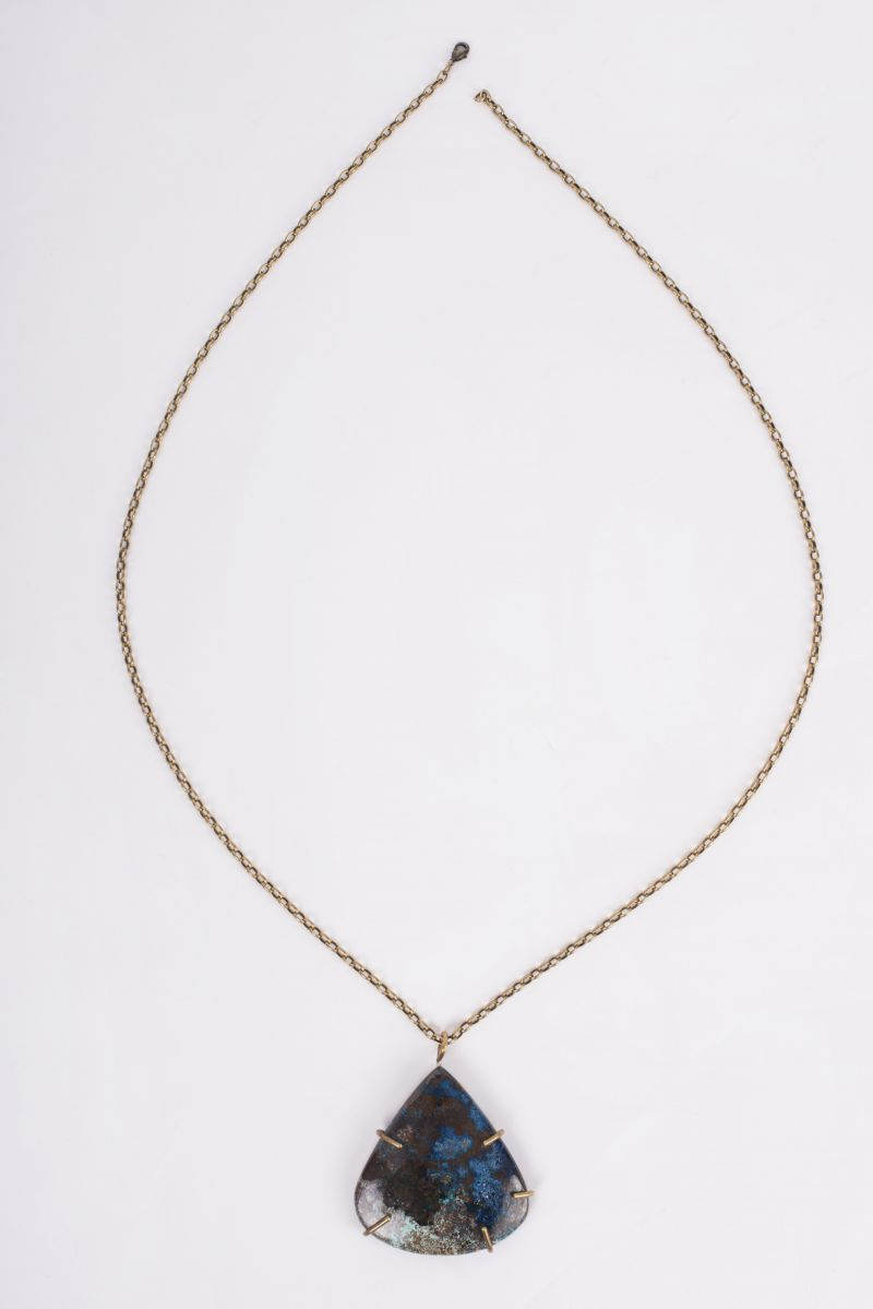 Christina Jervey Azurite pendant necklace, $295 at Gwynn's of Mount Pleasant