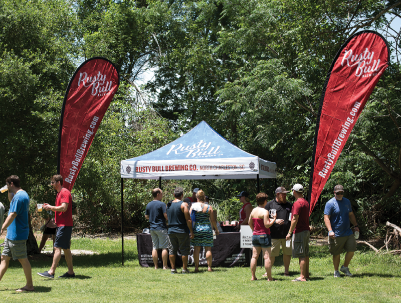 Breweries set up tents to offer a taste of their beers and expert brewing knowledge.