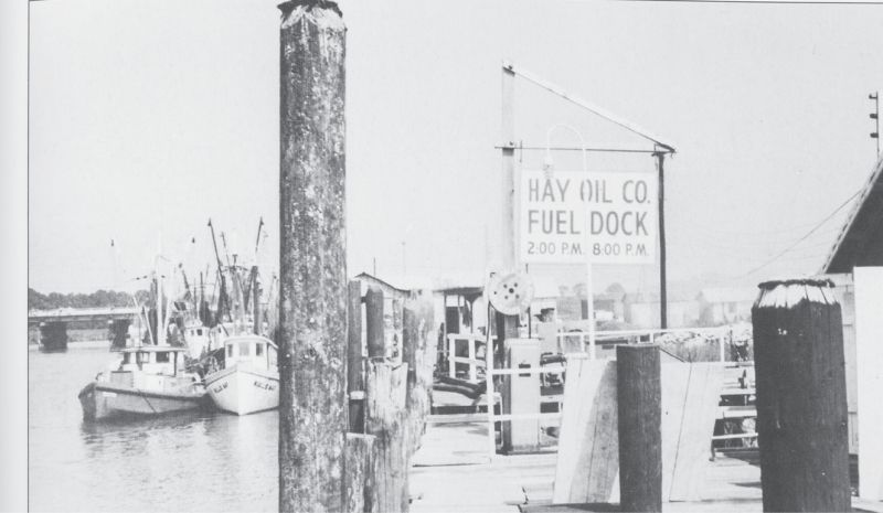 Hay Oil Company, circa 1950, provided fuel and ice for boats.