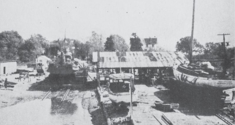 The Mount Pleasant Boat Building Company existed on the former E.O. Hall Boatyard for some 60 years.