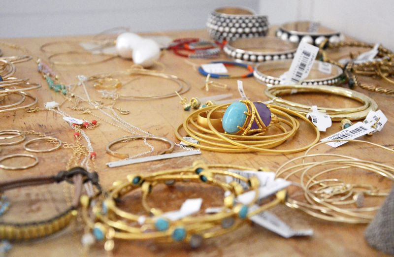 Lots of layered and stackable jewels