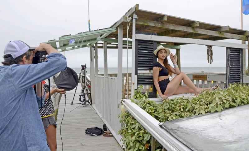 Photographer Peter Frank Edwards focuses in on model Sarah Simmons Trujillo.