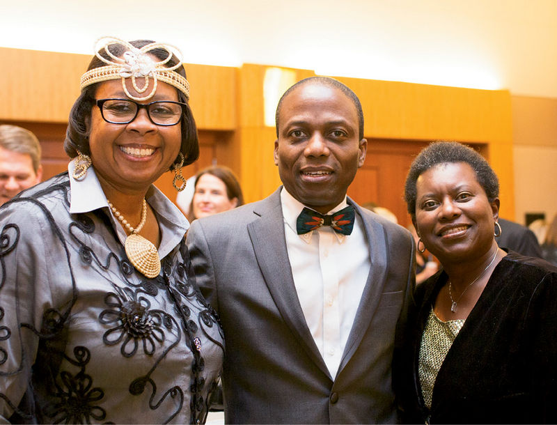 Barbara and Chuma Nwokike with Debra Williams