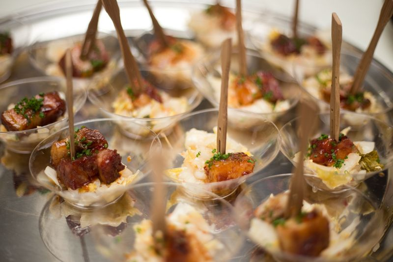 Hand-crafted hors d'oeuvres were available during the cocktail hour and silent auction.