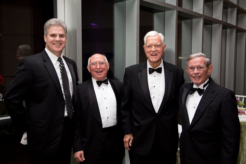 Jack Jones, Sen. Paul Campbell, Sen. Ernest F. Hollings, and Sen. Hugh Leatherman
