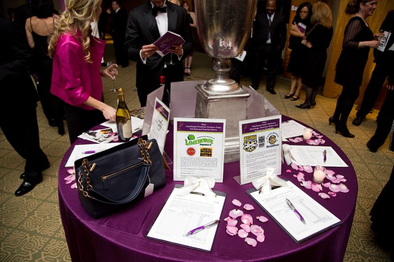 Guests were invited to bid in the silent auction during cocktail hour.