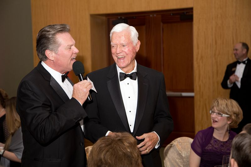 Tom Crawford and Sen. Ernest F. Hollings