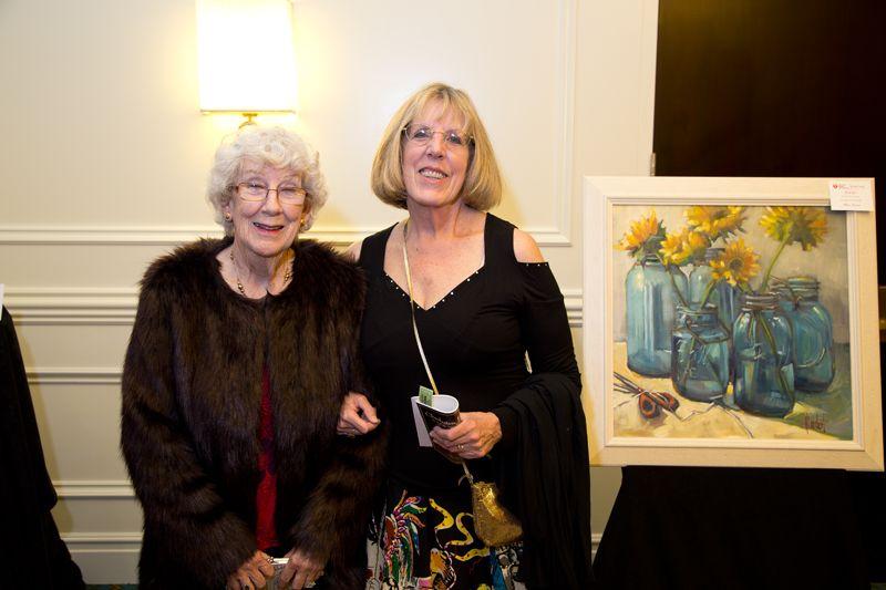 Artist Hilarie Lambert & her mother Barbara Balding