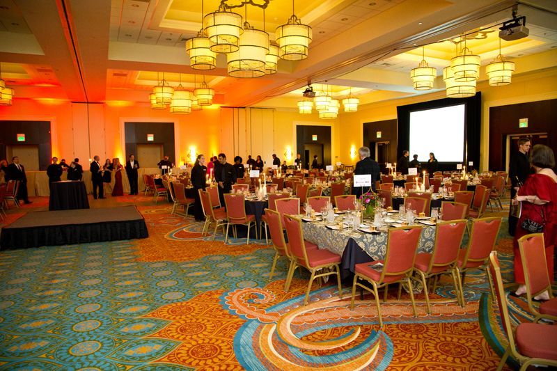 Guests began to gather in the Crystal Ballroom for a seated dinner