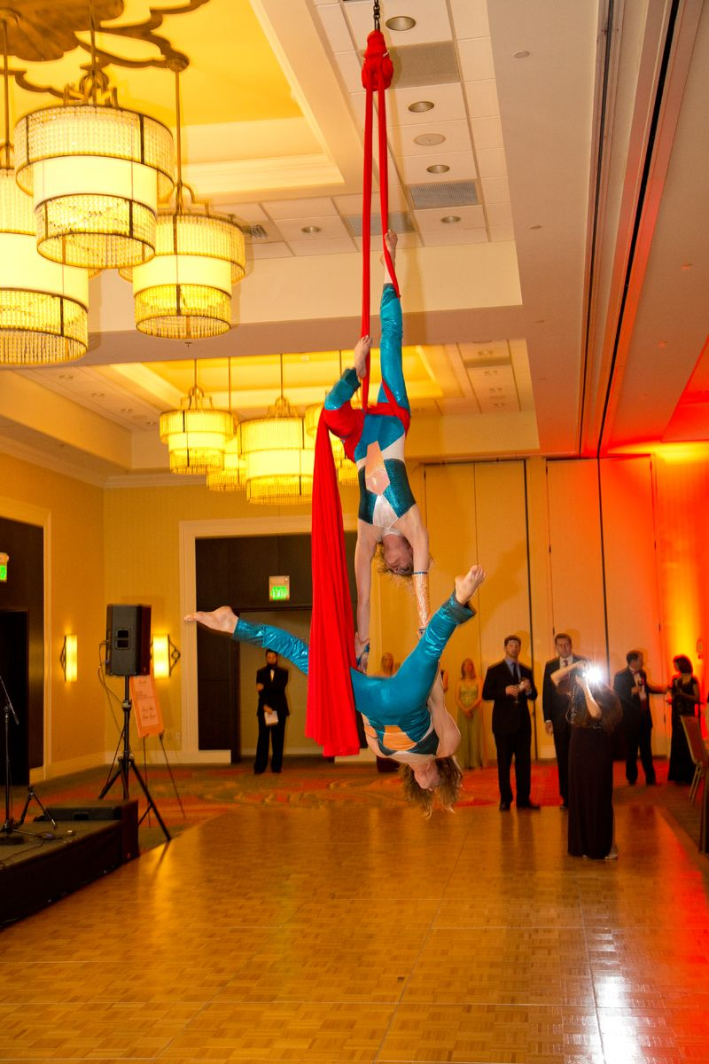 Aerialists put on an incredible show for the guests