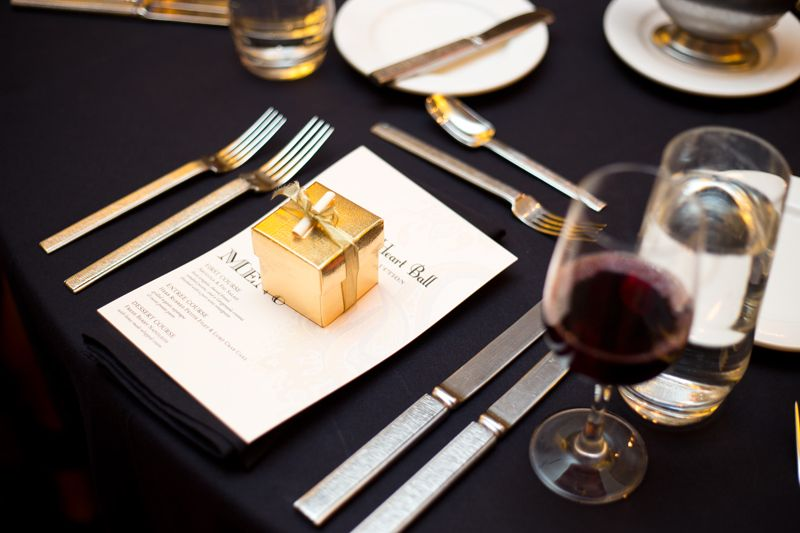 Each place setting included a special gift from Cru Catering
