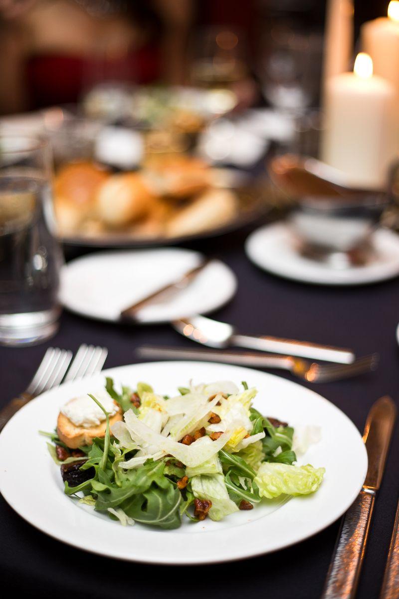 Arugula & fig salad with port wine vinaigrette