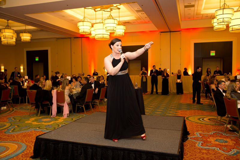 Hope Meares led the very successful live auction