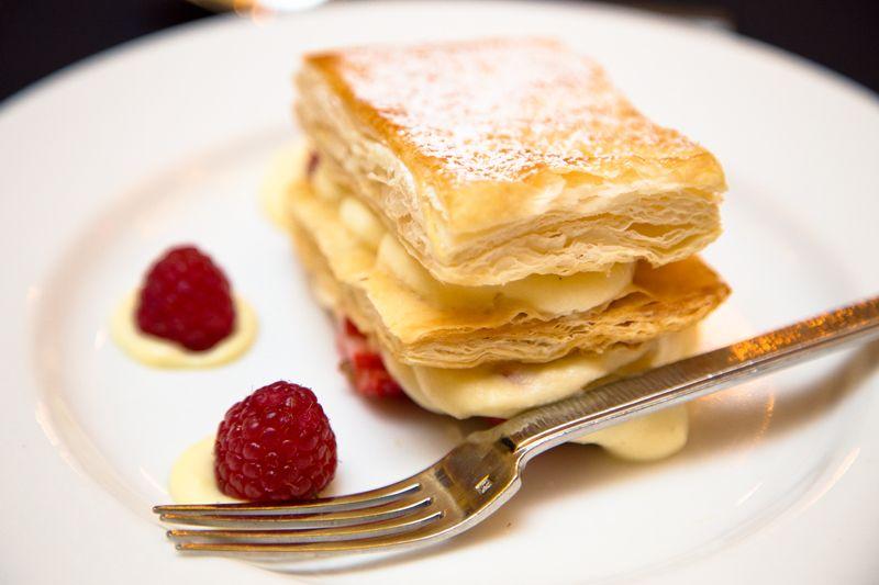 Fresh berry Napoleon for dessert