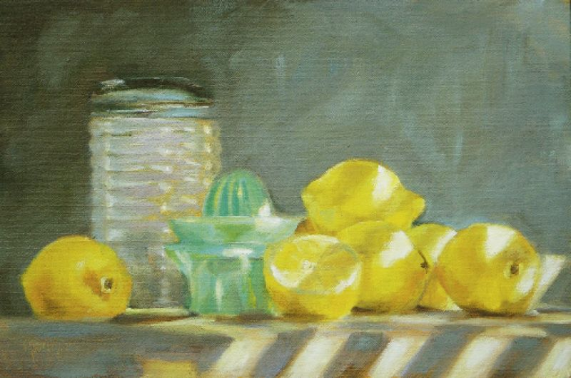 "Making Lemonade, 2008, 11"" x 14"", oil on linen"
