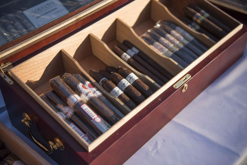 Guests enjoyed a sampling of fine cigars.