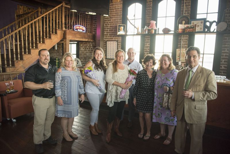 Peter and Lillie Aquino, Caroline Yianopoulos, Margeaux Coyne, Barrett Sammons, Melissa Kersey, Hope Reardon, and Lester Schwartz