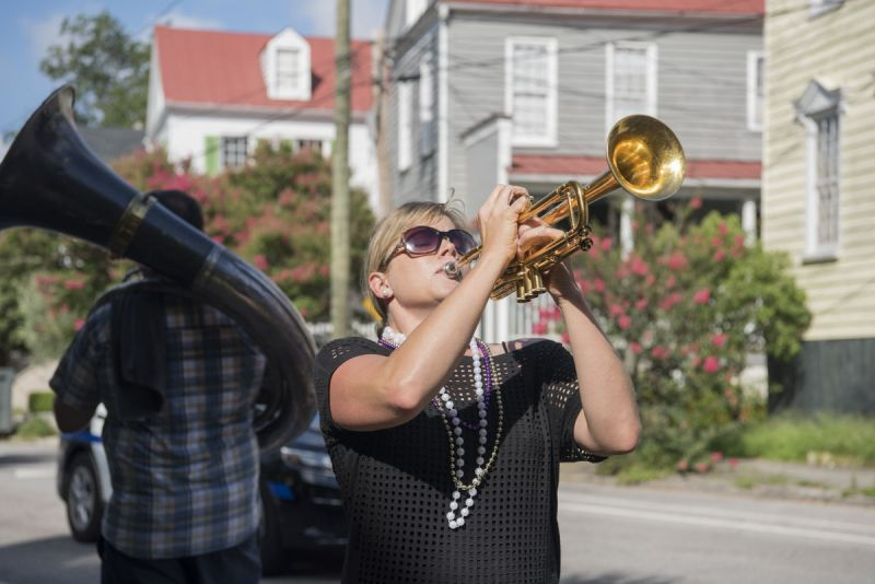 Cameron Handel helps lead the Krewe.