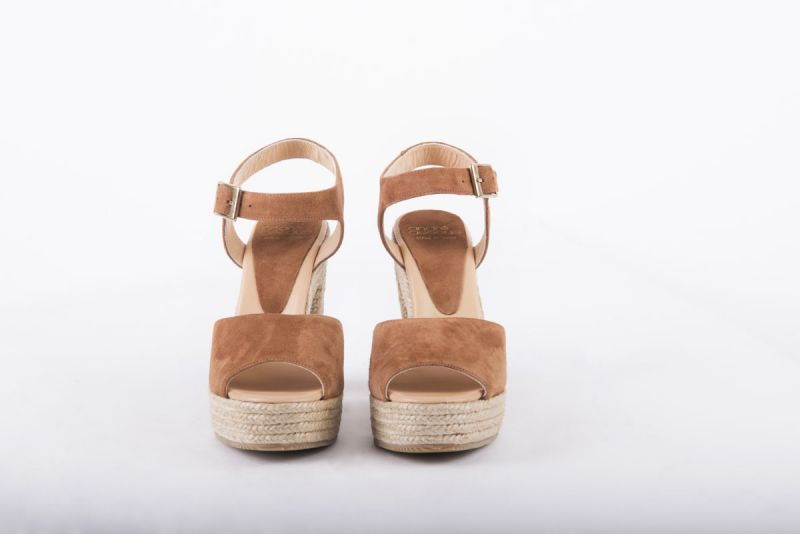 "Andre Assous ""Sasha Suede Rope Heel"" in brown, $259 at Gwynn's of Mount Pleasant"