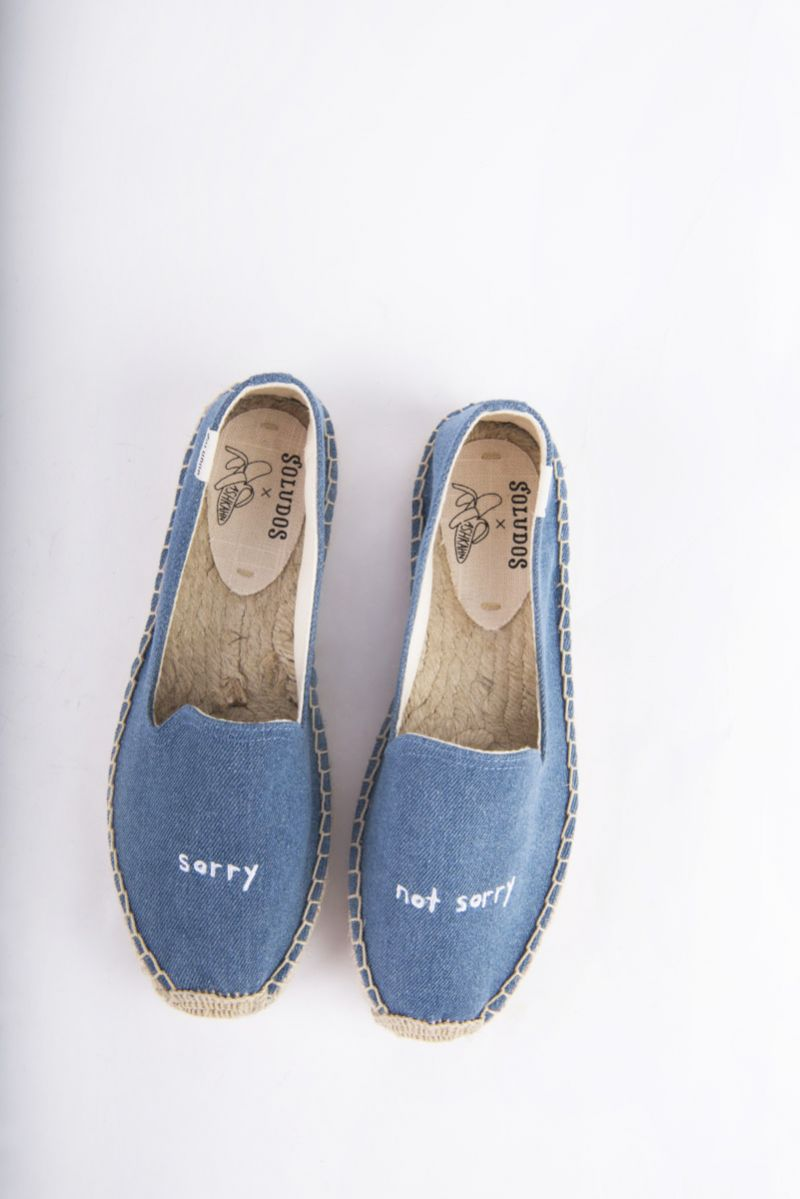 "Soludos ""Ashkahn Sorry Not Sorry"" embroidered slipper, $85 at Shoes on King"