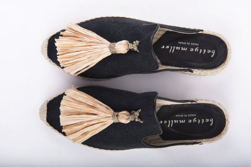 "Bettye Muller ""Rebat"" backless tassel espadrille, $225 at Shoes on King"