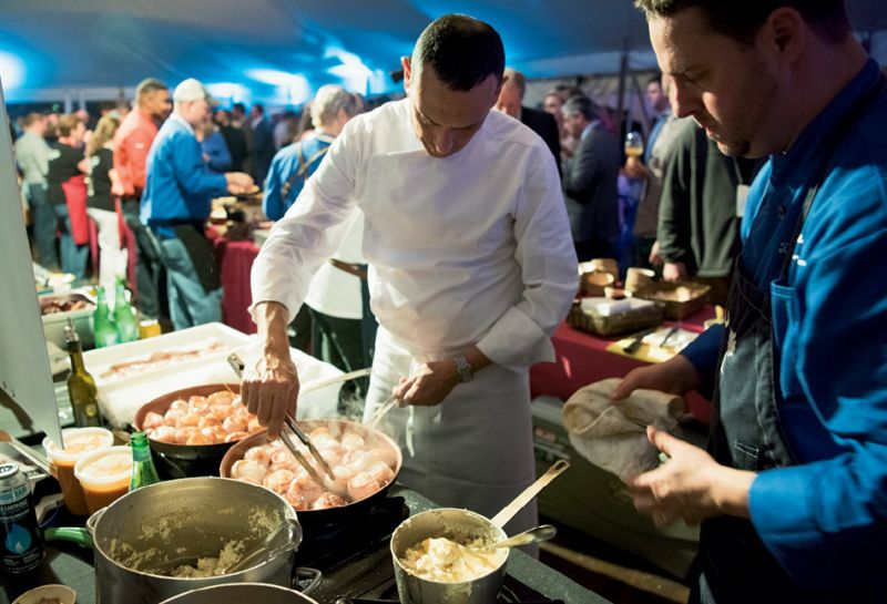 Local chefs cooked up tasty fare all night.