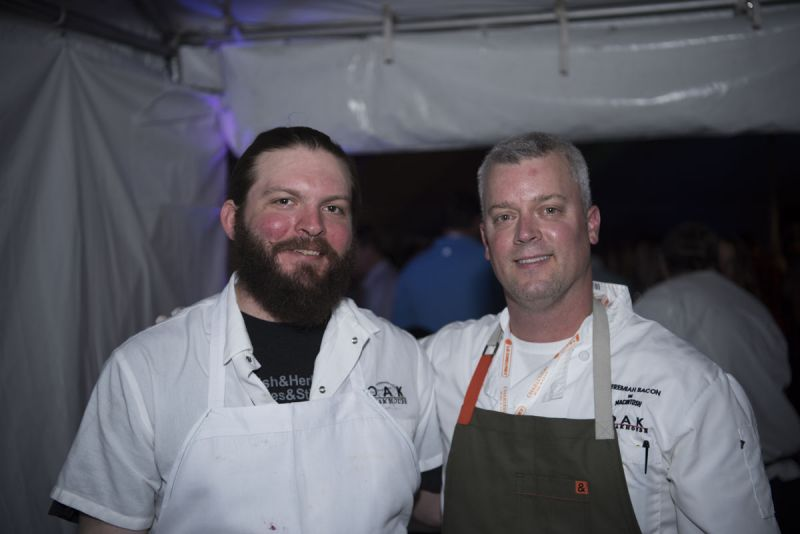 Chefs Massie Valentine and Jeremiah Bacon from Oak Steakhouse