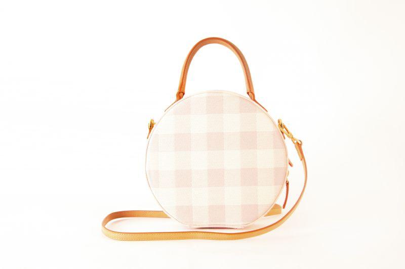 "Mansur Gavriel ""Checker Circle"" crossbody bag in ""coral,"" $695 at Hampden"
