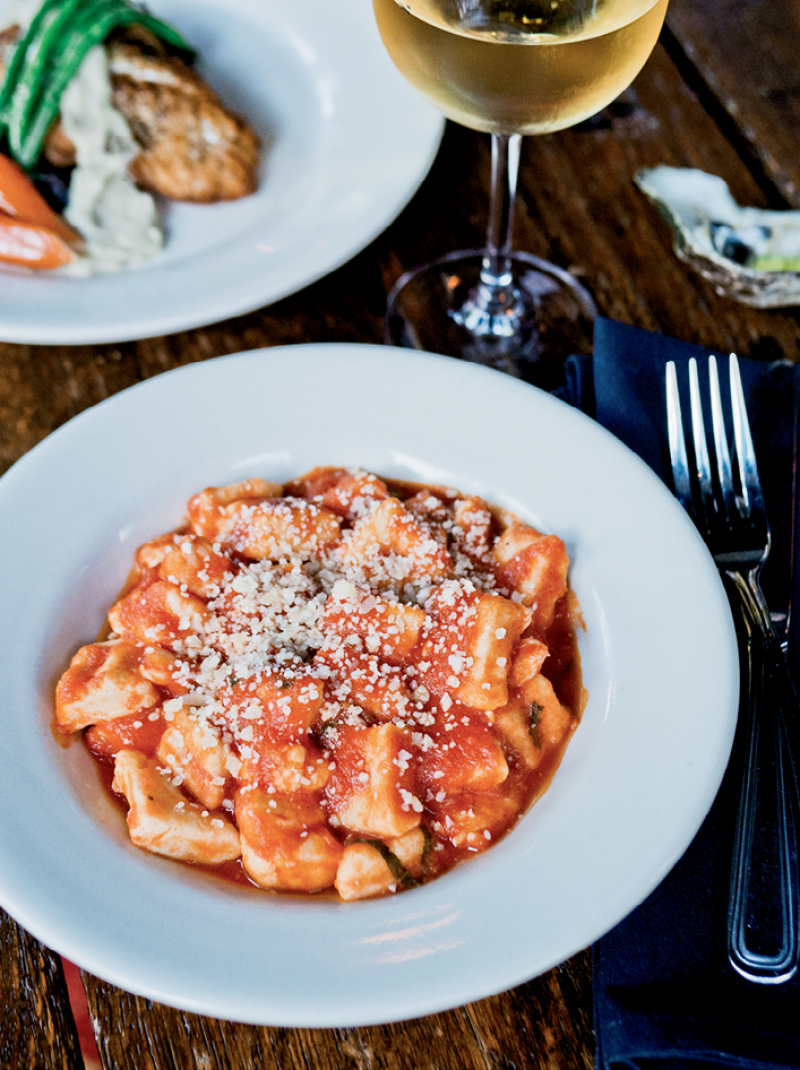 House-made gnocchi at the Old Bull Tavern