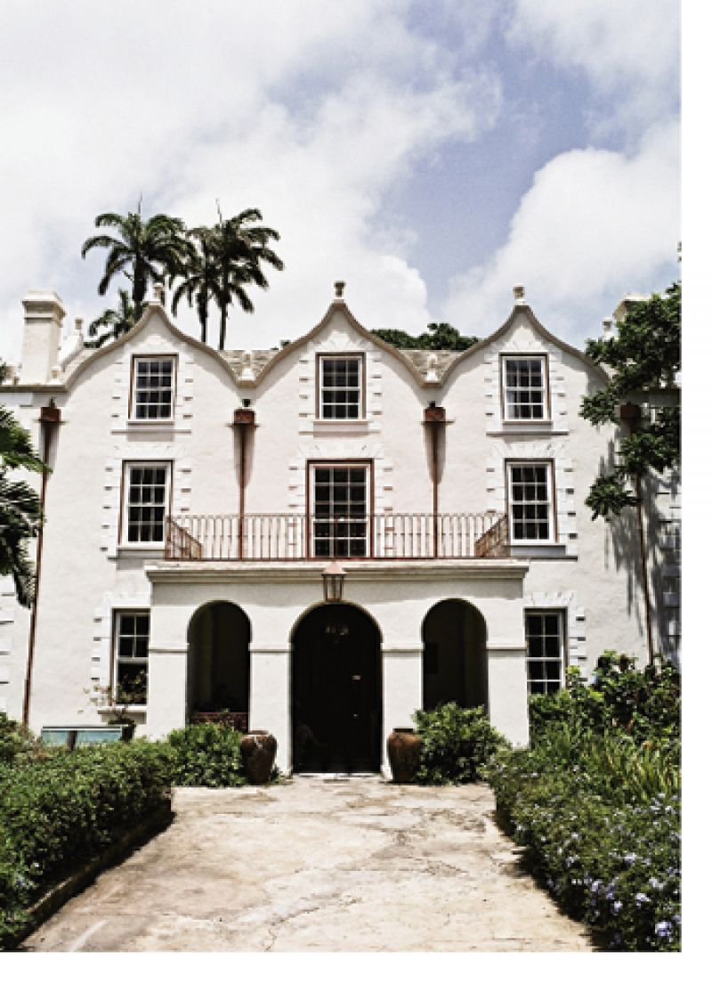 In the hills of St. Peter parish is one of the island's oldest surviving plantations, the 400-acre St. Nicholas Abbey (c. 1658), with sugarcane fields, mahogany forests, and formal gardens. The great house is a mansion of Jacobean architecture