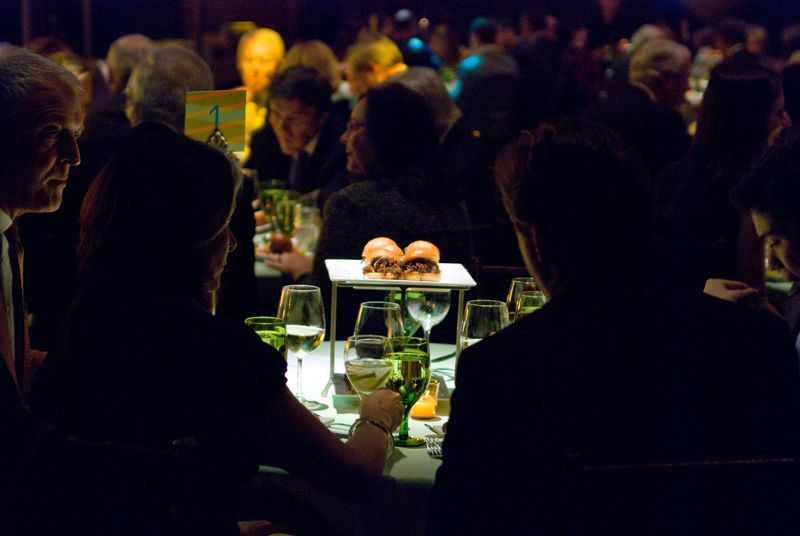 Guests enjoyed seated tapas during the live auction