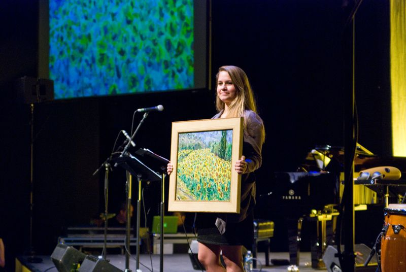 This painting by Jill Steenhuis raised $3,000 for the Spoleto Festival Orchestra