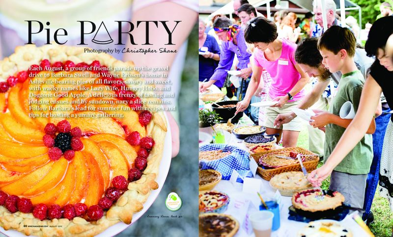"""Pie Party,"" WNC magazine, August 2012"