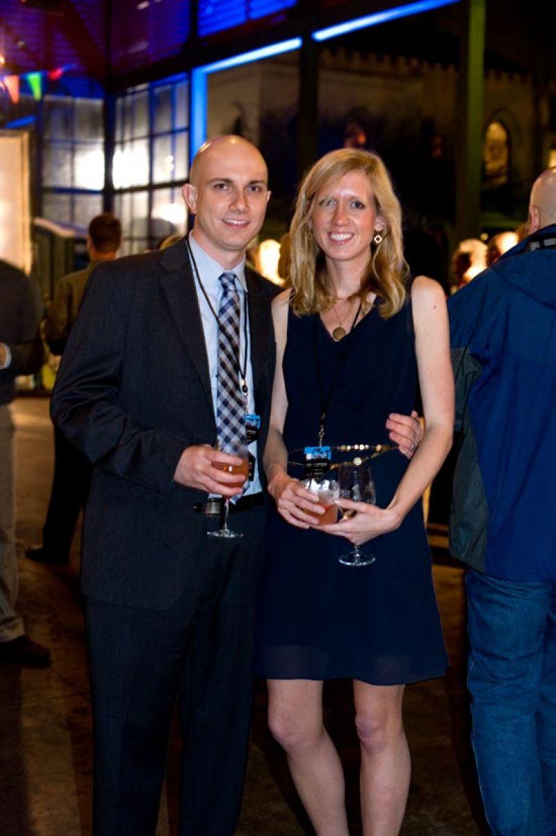 Josh Skidmore and Erin Klintworth enjoy Hendrick's Gin's signature cocktail of the evening