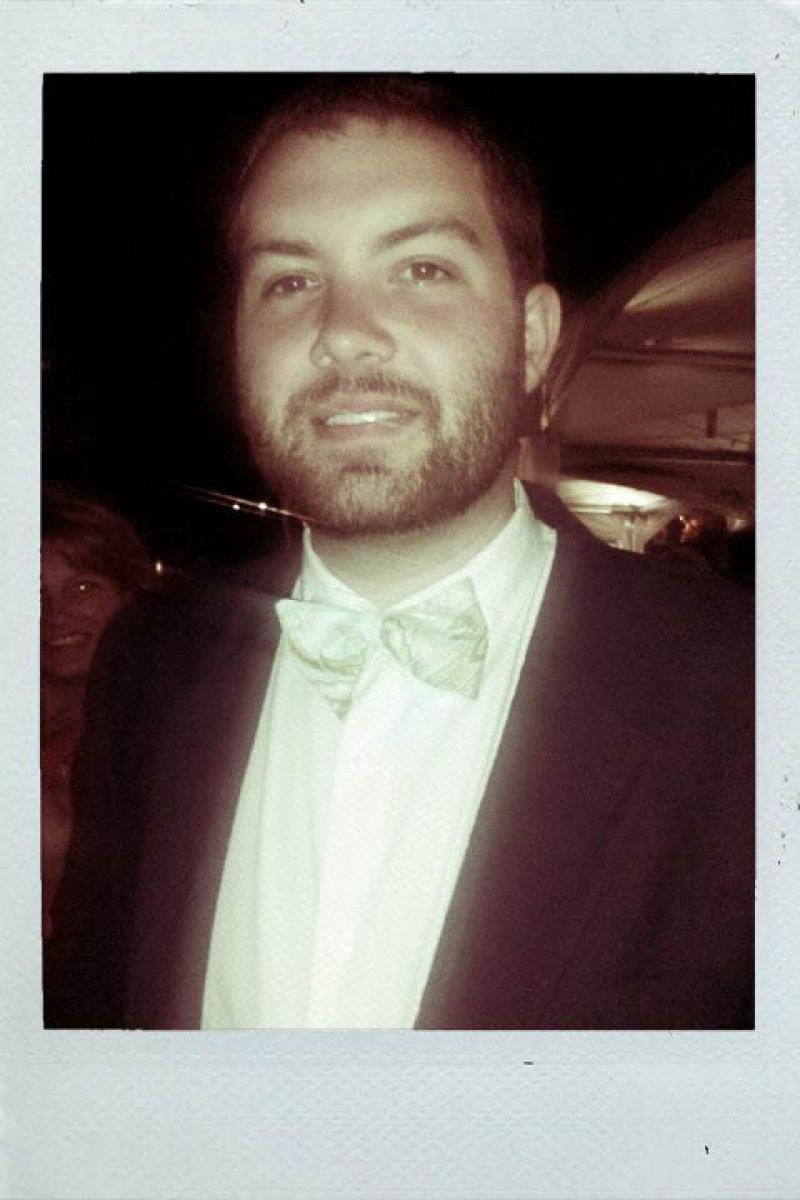 Blake, another huge contributor in decor for the evening, wears a fun print silk bow tie.