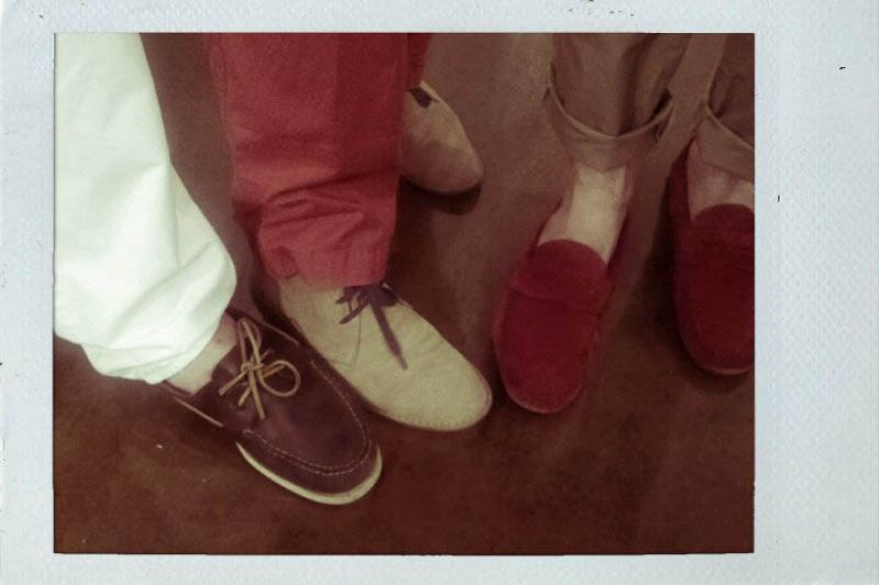 The boys and their shoes- Scott, Jeffery, and William.