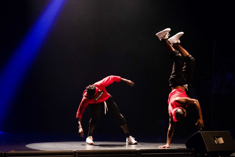 Breakdancers Kyle K'Otic Johnson and Lamar Hunter steal the show