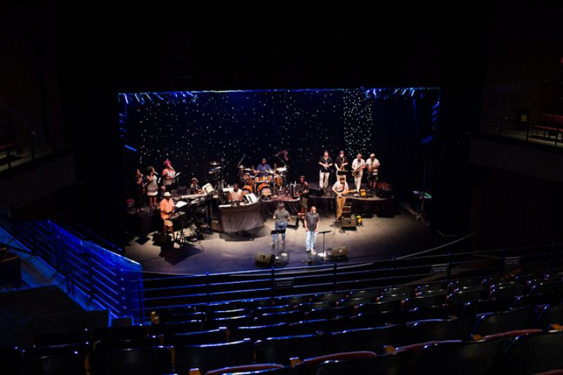 """Groovy tunes and powerhouse vocals soared during a soundcheck of """"September."""""""