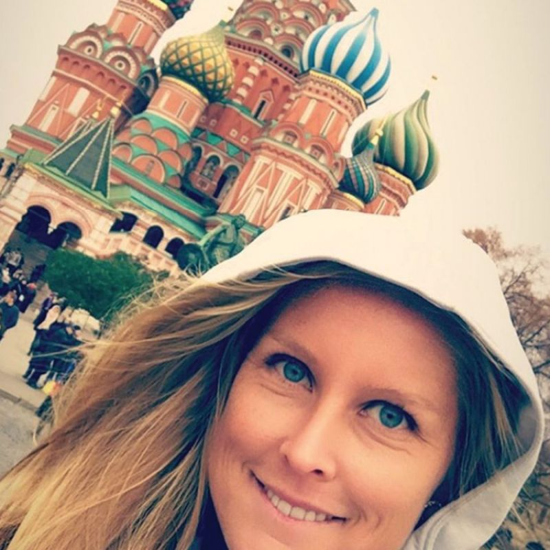 In Moscow at St. Basil's Cathedral