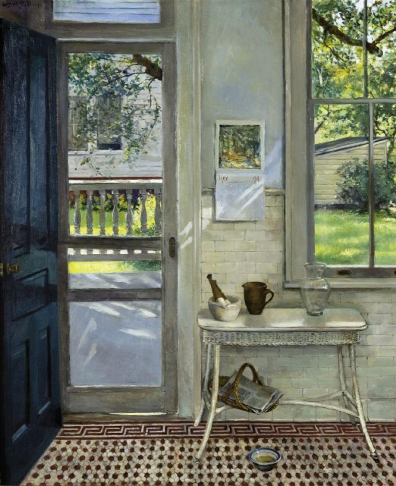 """The Screen Door, 1994, 31"""" x 24"""", oil on canvas"""